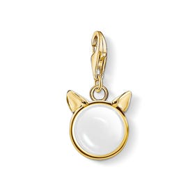 Gold Plated Silver Cat Ears Charm