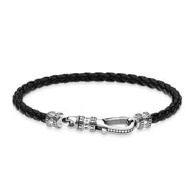Rebel Leather Strap Lobster Clasp Bracelet