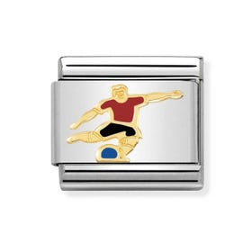 Classic Gold Soccer Player Charm
