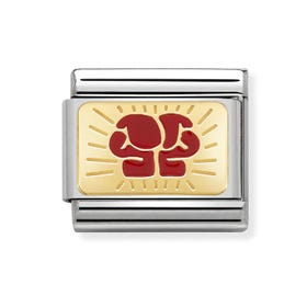 Classic Gold Boxing Charm