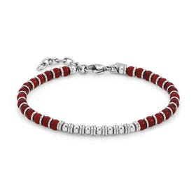 Instinct Red Agate Bead Bracelet