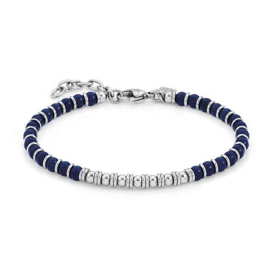 Instinct Blue Agate Bead Bracelet