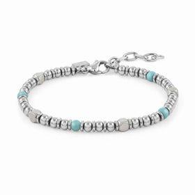 Instinct Stainless Steel Turquoise Bead Bracelet