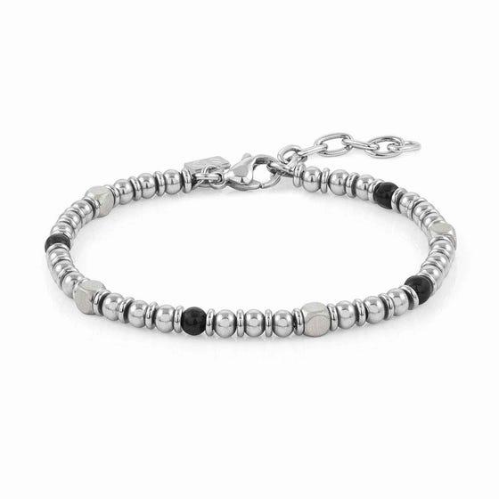 Instinct Stainless Steel Onyx Bead Bracelet