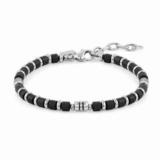 Instinct Stainless Steel Black Hematite Bracelet