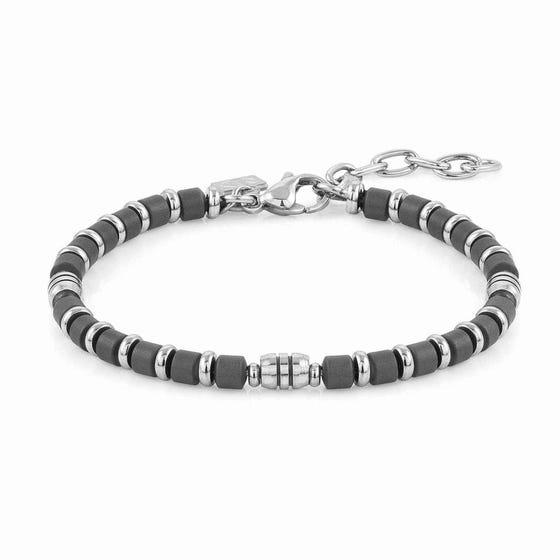 Instinct Stainless Steel Grey Hematite Bracelet