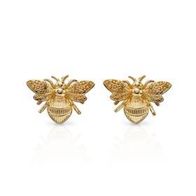 9ct Gold Bee Earrings