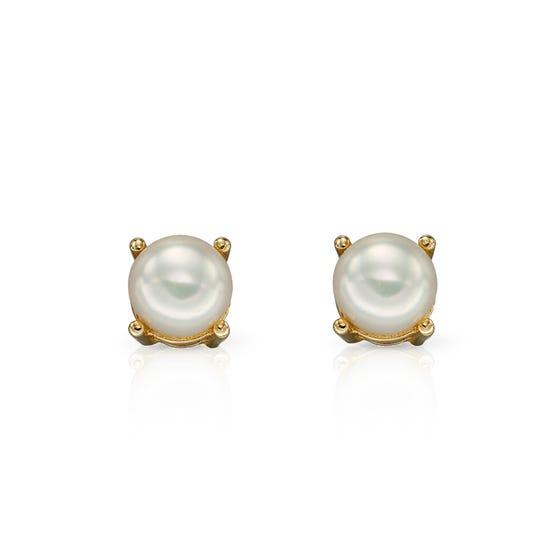 9ct Gold Freshwater Pearl Stud Earrings 4mm