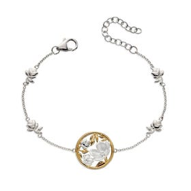 Meadow Silver & Gold Plated Cherry Blossom Bracelet