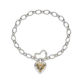 Meadow Silver & Gold Plated Heart Lock Bracelet