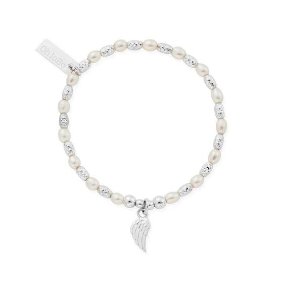 Children's Silver & Pearl Forever & Always Bracelet