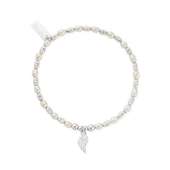Silver & Pearl Forever & Always Bracelet