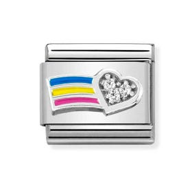 Classic Silver Celebrate Every Day Rainbow Charm