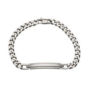 Stainless Steel Matte & Polished Bar Bracelet