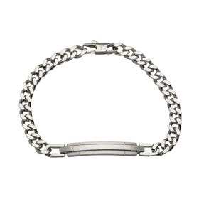 Stainless Steel Matte & Polished Bar Bracelet