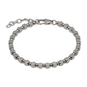 Stainless Steel Matte & Polished Bead Bracelet