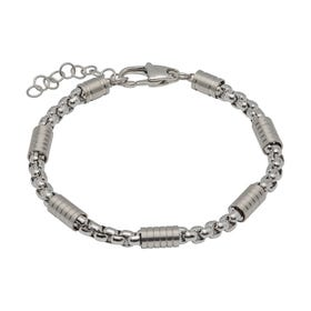 Stainless Steel Matte & Polished Link Bracelet