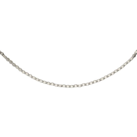Stainless Steel Matte & Polished Bead Necklace