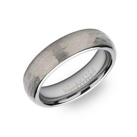 Tungsten Carbide Hammered 6mm Ring