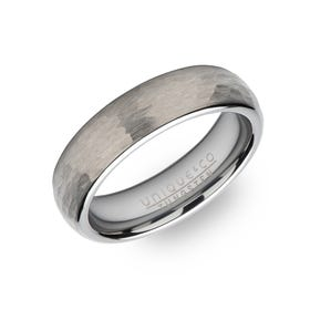 Tungsten Carbide Hammered 6mm Ring