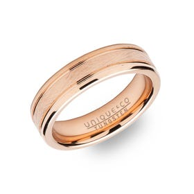 Tungsten Carbide Rose Plated 6mm Ring