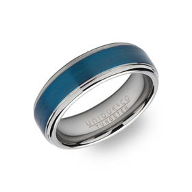 Tungsten Carbide 7mm Ring with Blue Plating