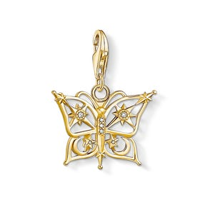 Gold Plated Butterfly, Star & Moon Charm