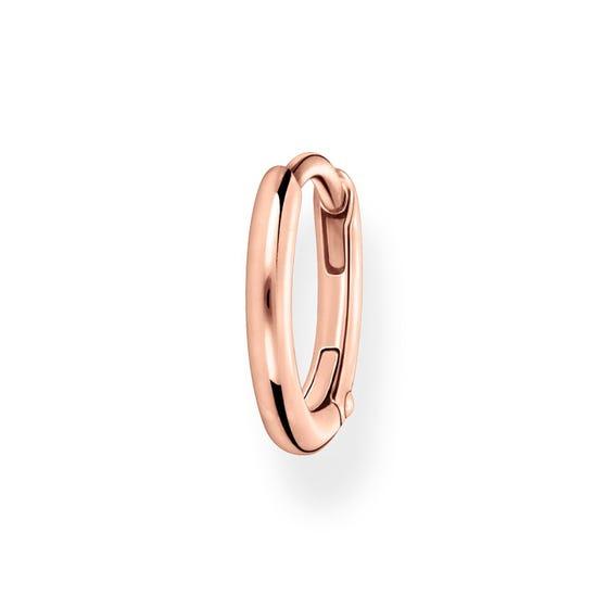 Rose Gold Plated Medium Single Hoop Earring