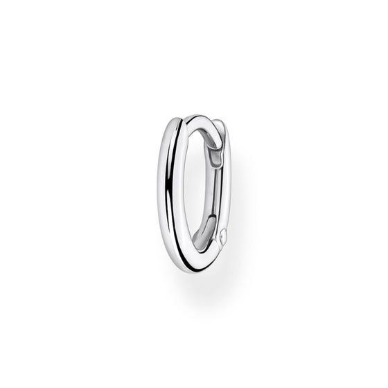 Silver Small Single Hoop Earring