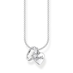 Silver Solitaire Ring with Heart Necklace