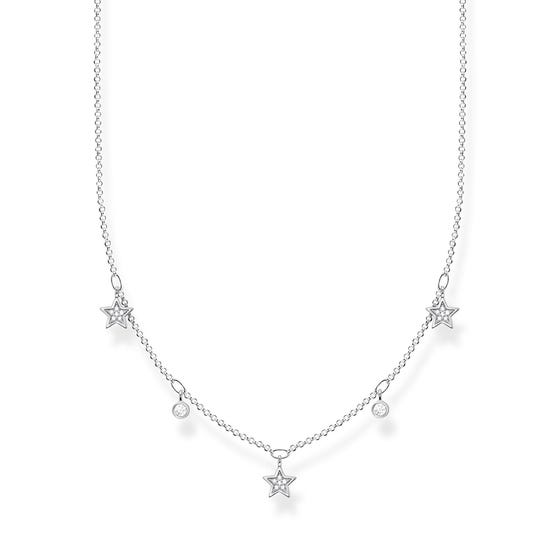 Silver Cosmic Stars Necklace