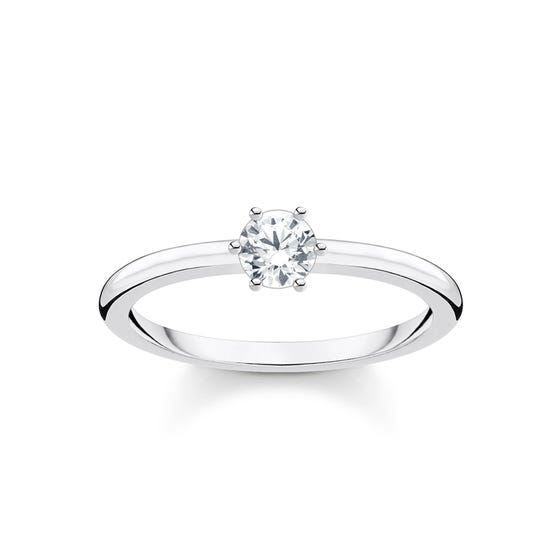 Silver Solitaire Zirconia Ring