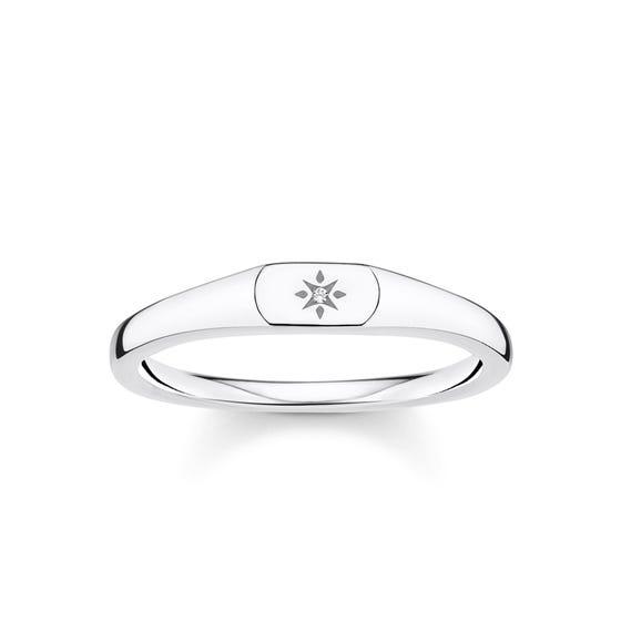 Silver Vintage Star Ring