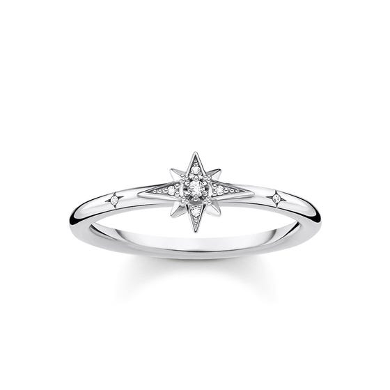 Silver Pave Star Ring