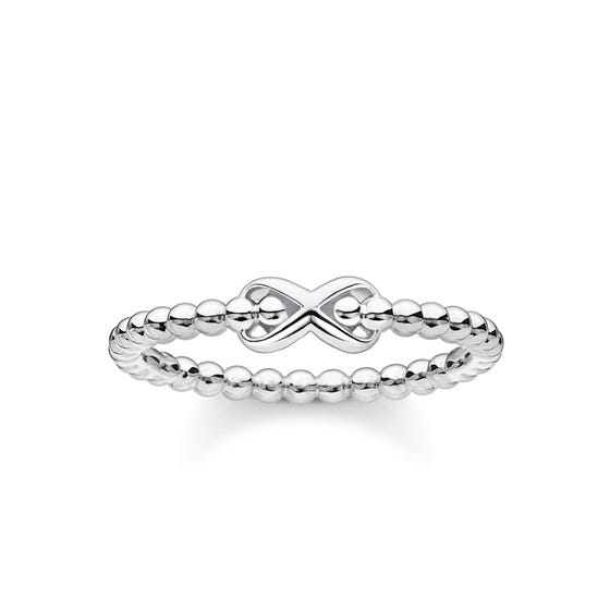 Silver Dots & Infinity Ring