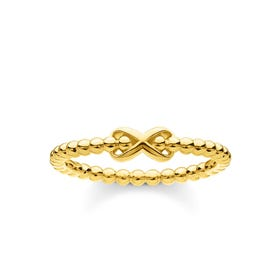 Gold Plated Dots & Infinity Ring