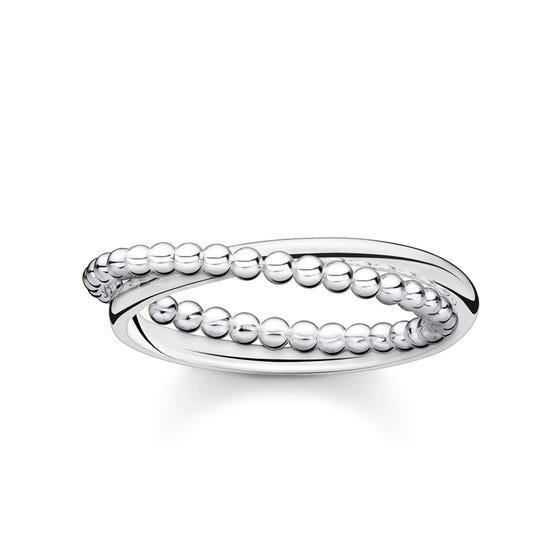 Silver Dots Double Ring