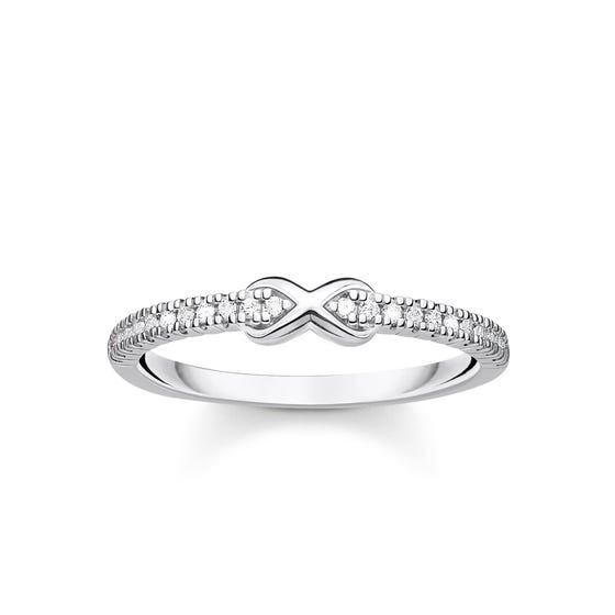 Silver Zirconia Infinity Ring