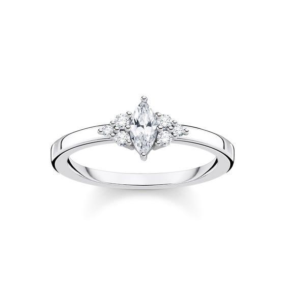 Silver & Zirconia Vintage Ring