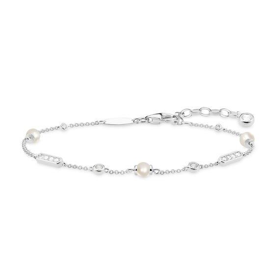 Glam & Soul Silver Pearl Bracelet