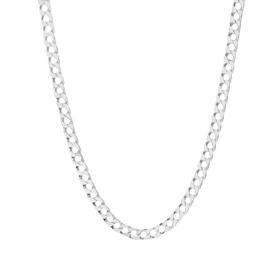 Silver Square Curb Chain Necklace