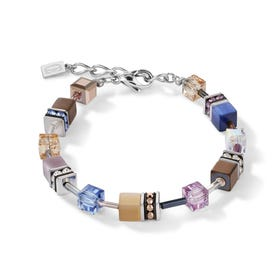 Classic GEOCUBE Bracelet Natural Tones with Hematite