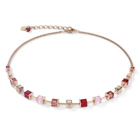 Classic GEOCUBE Necklace Half Set Rose Gold, Raspberry & Pink