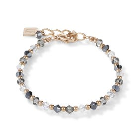Elegance Crystal Rose Bracelet White & Grey