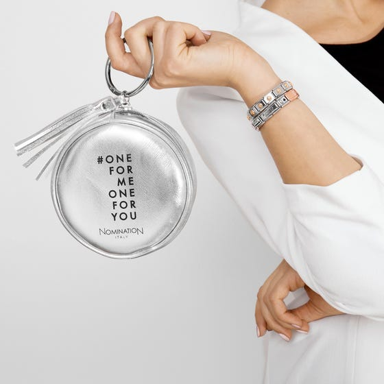 Limited Edition Round Silver Clutch Bag