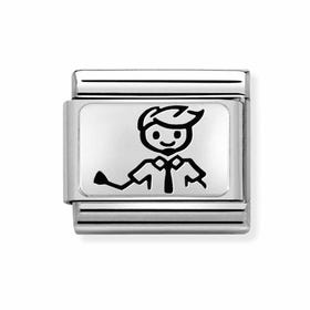 Classic Silver My Super Family Dad Charm
