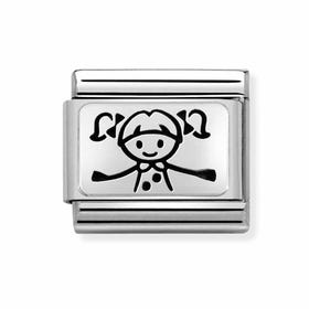 Classic Silver My Super Family Girl Charm
