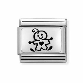 Classic Silver My Super Family Baby Boy Charm