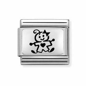 Classic Silver My Super Family Baby Girl Charm
