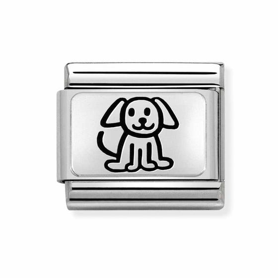 Classic Silver My Super Family Dog Charm